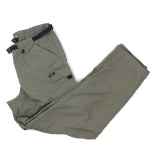 REI Khaki Green Hiking Camping Convertible Pants